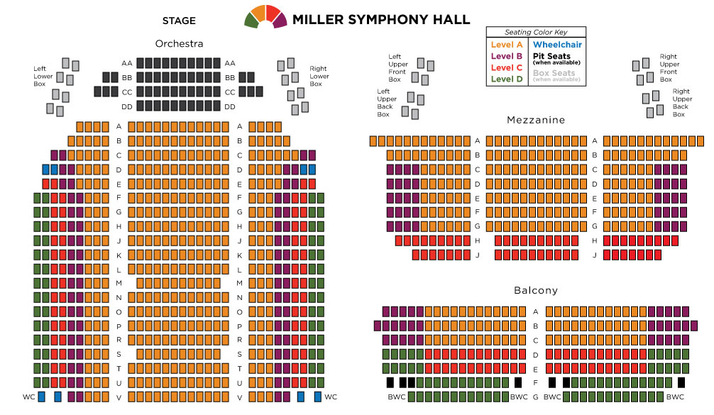 Seating Chart Miller Symphony Hall Downtown Allentown – Seating Chart